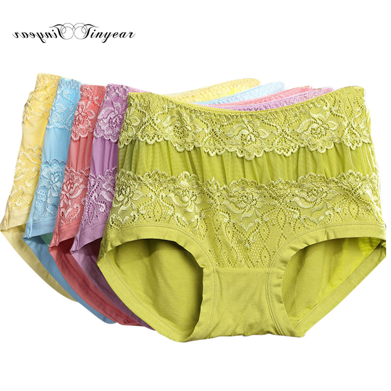 aedeeff992e5 New elegant women floral lace panties high waist hipster antibacterial sexy  undergarments for ladies multi color option