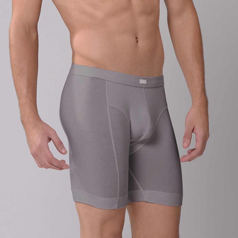 KVF, новый стиль, мужские Модные боксеры, нижнее белье, мужские Длинные боксеры, повседневные шорты, модал, под шорты, сексуальные боксеры с буквами