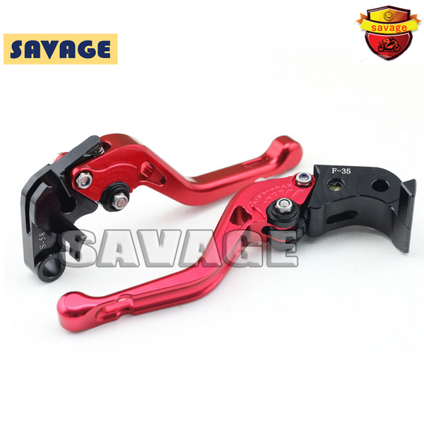 For SUZUKI GSX-R 600 750 11-15, GSX-R1000 09-15 Red Motorcycle CNC Billet Aluminum Short Brake Clutch Levers - logo GSX-R