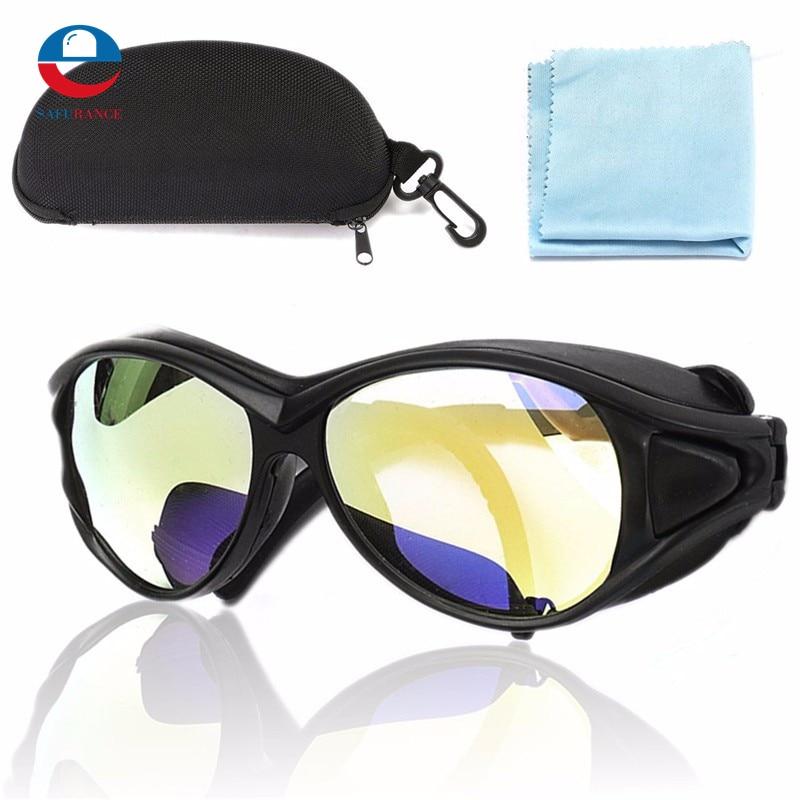 PC 150mm CO2 láser gafas de protección de doble capa profesional de gafas 10.6um OD + 7 para láser nueva llegada