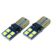 1 PCS/Lot T10 194 168 W5W 8 SMD 3030 LED CANBUS Super Bright White License Plate Light Bulb New Wholesale