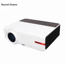 LED Projector Full hd digital video Proyector Home Theater 1280*800 Projektor Beamer support USB HDMI VGA TV AV cheap 3200 Lumens Led Light 1280x800 support 1080P 2 5-5 5M Manual Correction Throwing Back Projection Desktop Ceiling Business Education Portable Projector Home