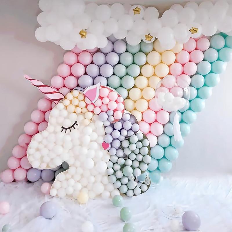 10pcs 5/10 Inch Candy Balloons Macaron Latex Balloon Color Romantic Wedding Thicken Balloon Birthday Party Decorations Kids Ball