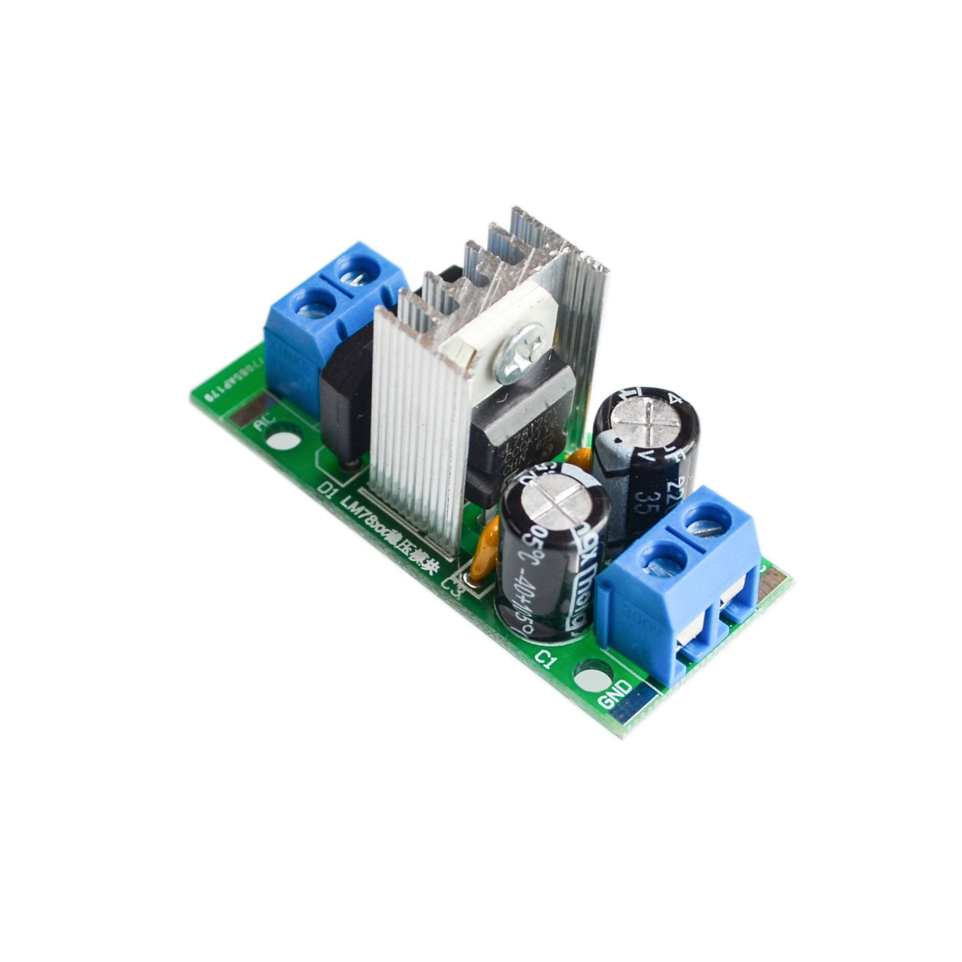 L7812 Lm7812 Three Terminal Regulator Power Module 12v Lm7912 Circuit Step Down Supply Voltage Filter Rectifier Ac Output Dc