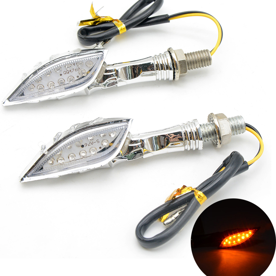2pcs Universal Skull Ghost Hand Motorcycle LED Turn Signal Light Led blinker indicates lamp For Suzuki GSXR1300 GSX650F GSX1250