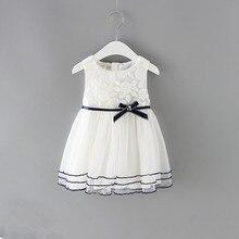Meninas recém nascidas princesa vestido de bebê crianças festa de casamento pageant rendas vestidos de algodão vestido de baile 0 2y branco