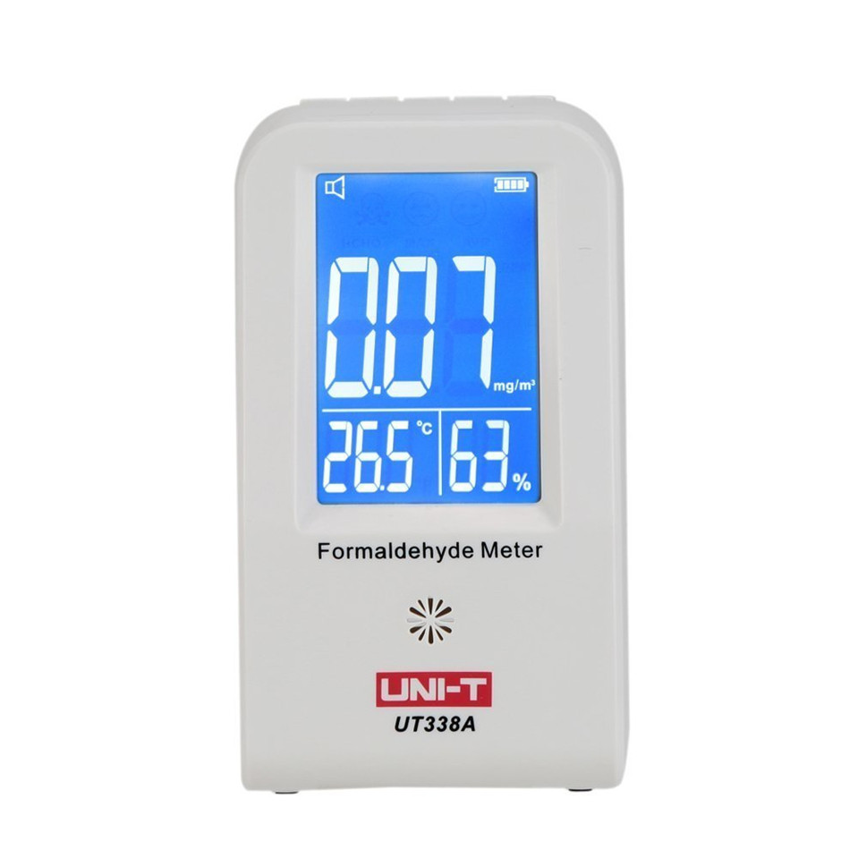 UNI-T UT338A Indoor Formaldehyde Detector LCD Display High Precision Formaldehyde Data Logger Air Monitor Hygrometer Thermometer az 7788 desktop co2 temperature humidity monitor data logger air quality detector