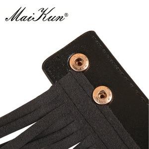 Image 3 - Western Punk Boho Style długie pasy Tassel dla kobiet pas kobiet czarne skórzane pasy dziki spódnica styl wysoki pas biodrowy