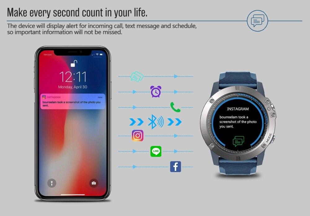 pro esportes smartwatch monitor de freqüência cardíaca