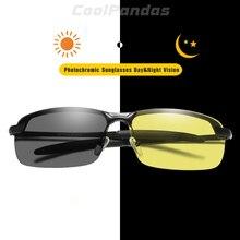 Брендовые интеллектуальные фотохромные поляризационные солнцезащитные очки для мужчин и женщин с желтыми линзами для дневного и ночного видения для вождения солнцезащитные очки gafas de sol