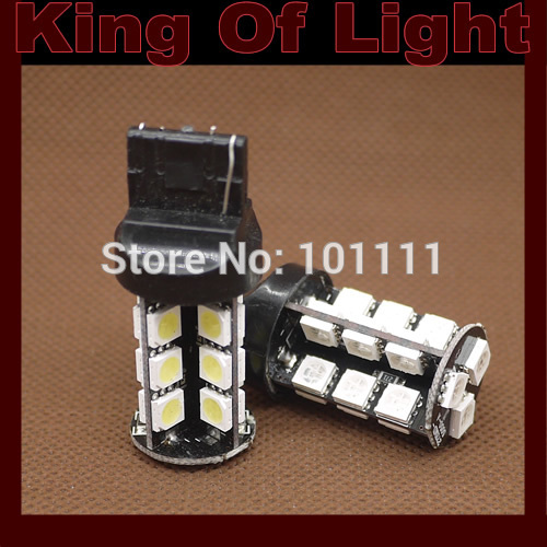 50pcs/lot Canbus W21W 7440 27SMD 5050 27 SMD LEDs bulb No error lamp car Turn Backup lights Free shipping