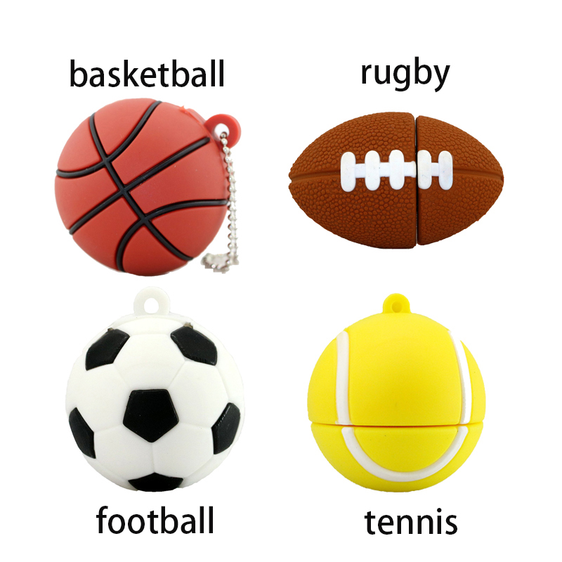 Basketball Sport Ball Usb Flash Drive 4GB 8GB 16GB Football Memory Stick Storage Ball Pendrive Mini Usb Disk Flash Card USB 2.0
