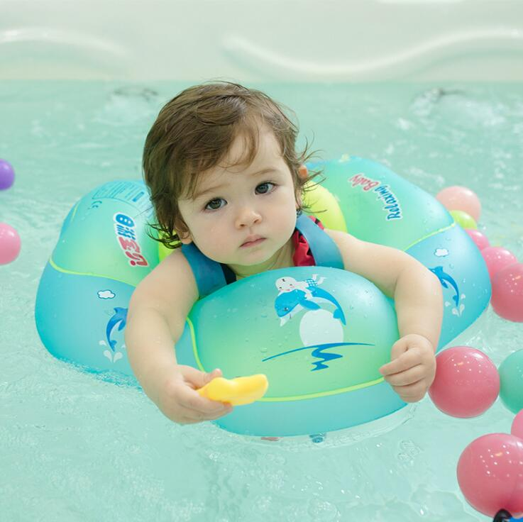 Baby Swimming Kid Inflatable Safety Handle Seat Float Swim Raft Chair Swimming Toy