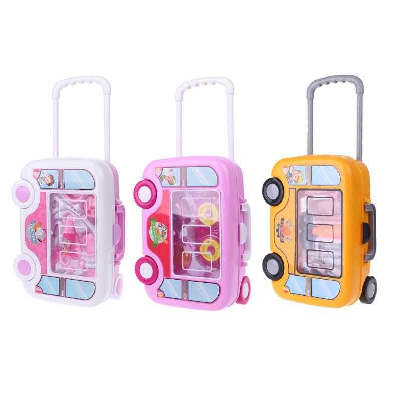 1 Pc Kinder Kinder Arzt Medizinische Küche Werkzeuge Make-up Set Pretend Rolle Spielen Reise Kit Trolley Bestellungen Sind Willkommen.