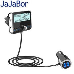 Image 1 - JaJaBor רכב DAB הדיגיטלי רדיו FM משדר Bluetooth דיבורית ערכת דיגיטלי אודיו שידור QC3.0 מהיר תשלום + אוויר Vent קליפ