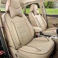 Fundas para asientos de coche Jeep Wrangler cubre accesorios de calidad de LA PU cojín del asiento de coche de cuero cubierta de asiento de coche con reposacabezas cubre