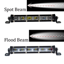 ECAHAYAKU 30w 7 Inch 6D Lens Led Work Light Bar 4x4 Offroad For Car Jeep ATV SUV 4WD Motorcycle Flood Spot Beams Driving Lights 6d lens 5 inch 30w round square flood beam led work light for motorcycle suv car 4x4 truck offroad 12v fog lights