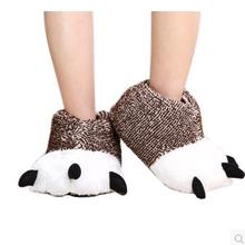 Cartoon panda claws cotton slippers package with the men and women lovers warm indoor PAWS animal lovely maomao cotton slippers