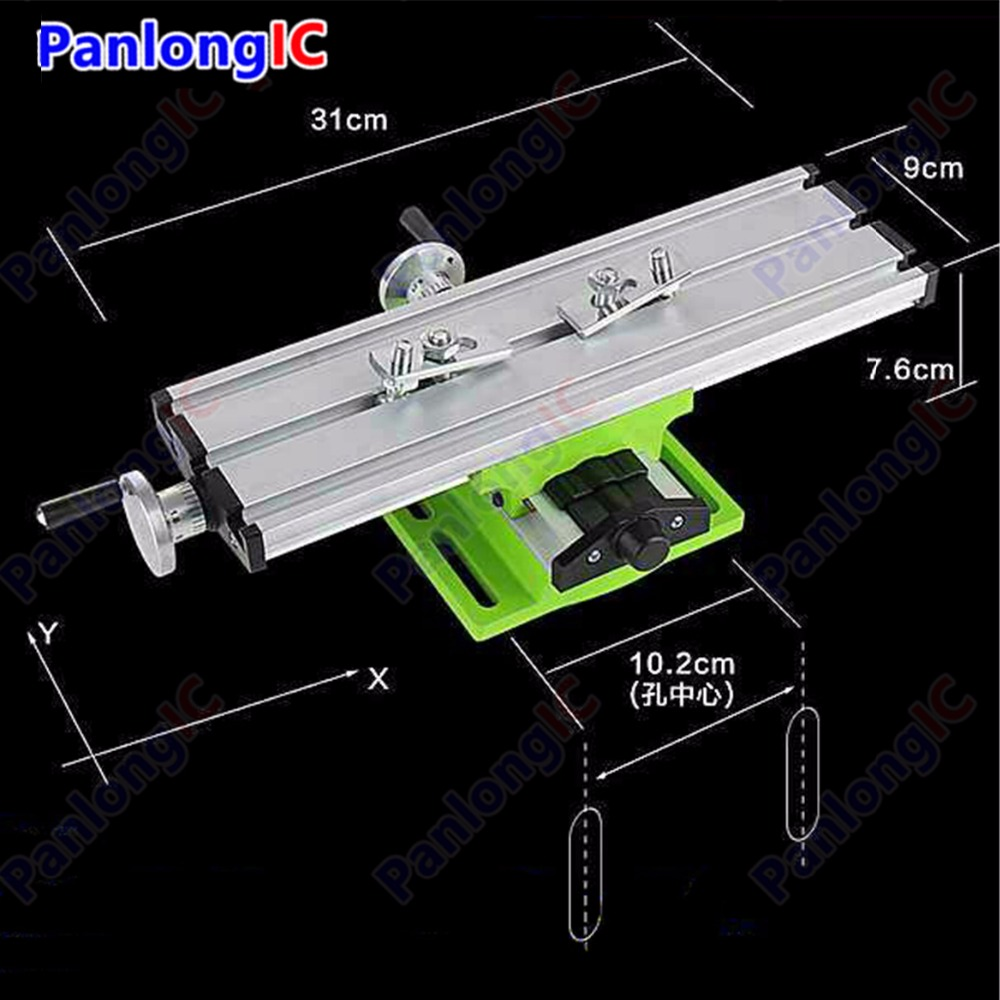 Miniature Precision Multifunction Milling Machine Bench Drill Vise Worktable X Y-axis Adjustment Coordinate Table Workbench no tax to russia miniature precision bench drill tapping tooth machine er11 cnc machinery