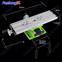 Miniature Precision Multifunction Milling Machine Bench Drill Vise Worktable X Y axis Adjustment Coordinate Table Workbench