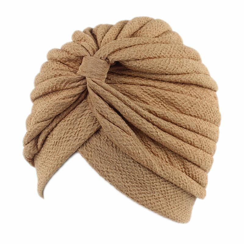 Turban Hat India Hijabs Caps Muslim Women Simple Elastic Cloth  Women Hijab Hat Lady Hair Accessories Muslim Scarf Cap Wholesale