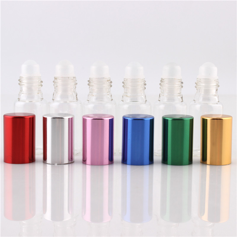 6 Pieces/Lot 5ML  Glass Roll on Bottle For Essential Oils Perfume Bottle Empty Cosmetic Containers For Oil Sample 6 Colors
