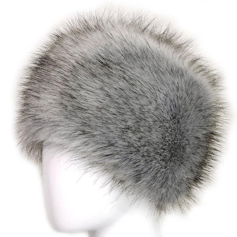 Russian Lady Women Faux Fox Fur Cossack Style Winter Warm Earflap Hat Beanie Cap russian