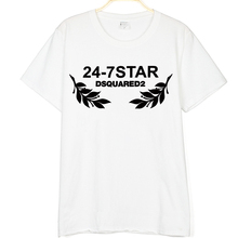 New Dsq2 24 7 Star Printed Summer Fashion Unisex Cool T Shirt Mens Cotton T Shirt