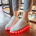 2016  women shoes light bright LED Luminous Shoes bright casual color fashion with the new single  responsible adult neon