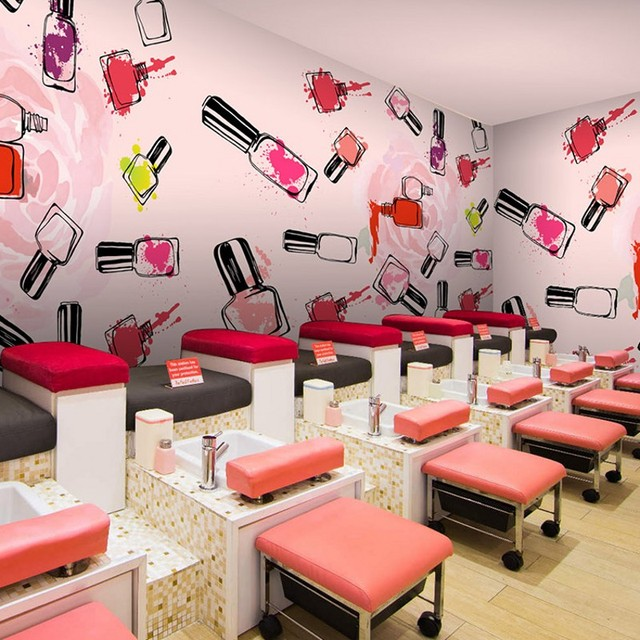 Nail Salon Game Beauty Makeover: Photo Wallpaper Fashion Manicure Mural 3D Hand Painted