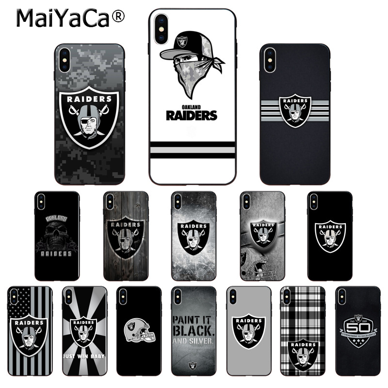 MaiYaCa Oakland Raiders TPU Soft Silicone Phone Case For Apple IPhone 8 7 6 6S Plus X XS MAX 5 5S SE XR Cellphones