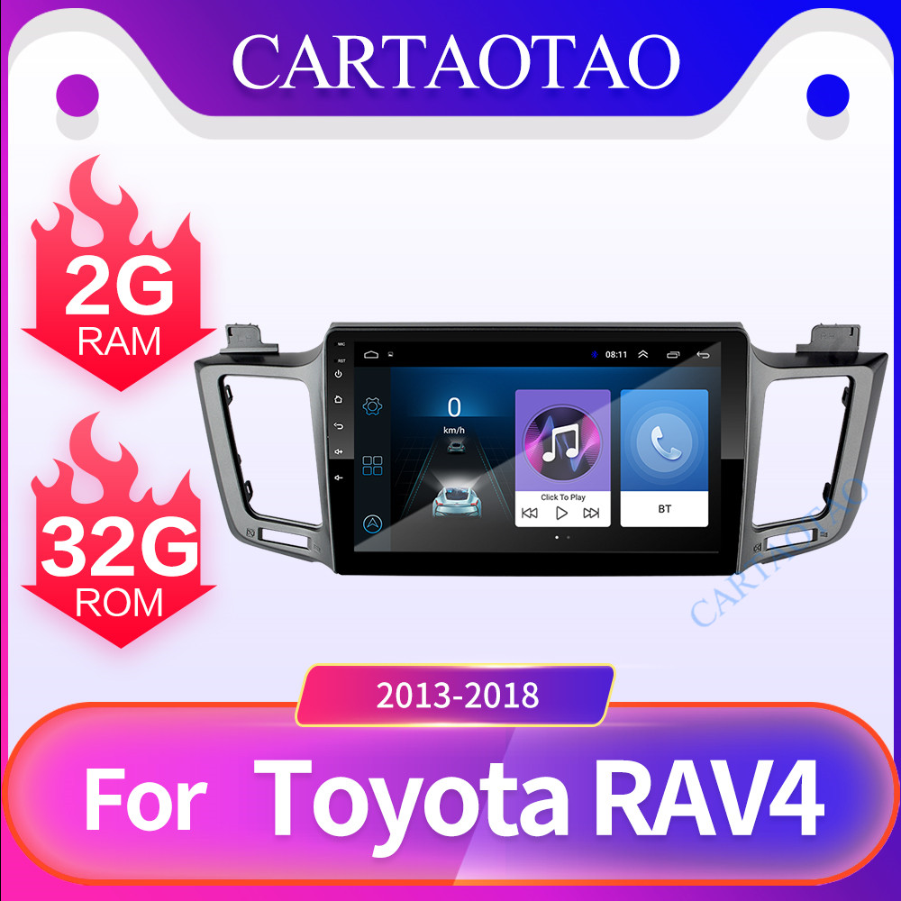 2 din Android 8.1 car DVD player for Toyota RAV 4 2013 2014 2015 2016 2017 10.1Car radio multimedia GPS navigation wifi player
