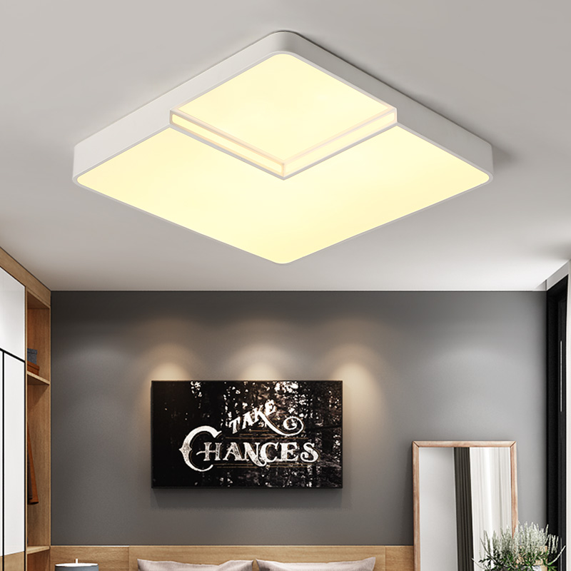 Square Modern Led ceiling lights for living room bedroom AC85-265V White/Black Home Deco Ceiling Lamp Fixtures Free Shipping led ceiling lights for hallways bedroom kitchen fixtures luminarias para teto black white black ceiling lamp modern