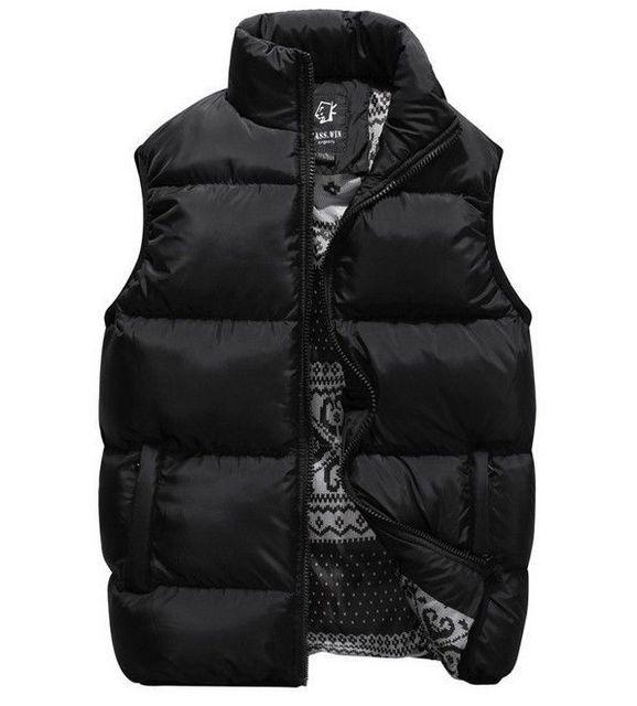 Men's Autumn Winter Vest down Jacket Coat Warm WaitstCoat 1563