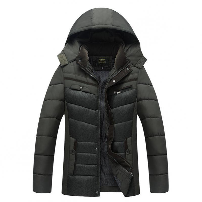 2019 à capuche épaisse doudoune hommes manteau Snow parkas manteau mâle chaud marque vêtements hiver vers le bas veste matelassée père manteau 4XL