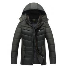 2019 Hooded Thick Down Jacket men coat Snow parkas coat male Warm Brand Clothing winter Down Jackets Outerwear Father coat 4XL цена в Москве и Питере