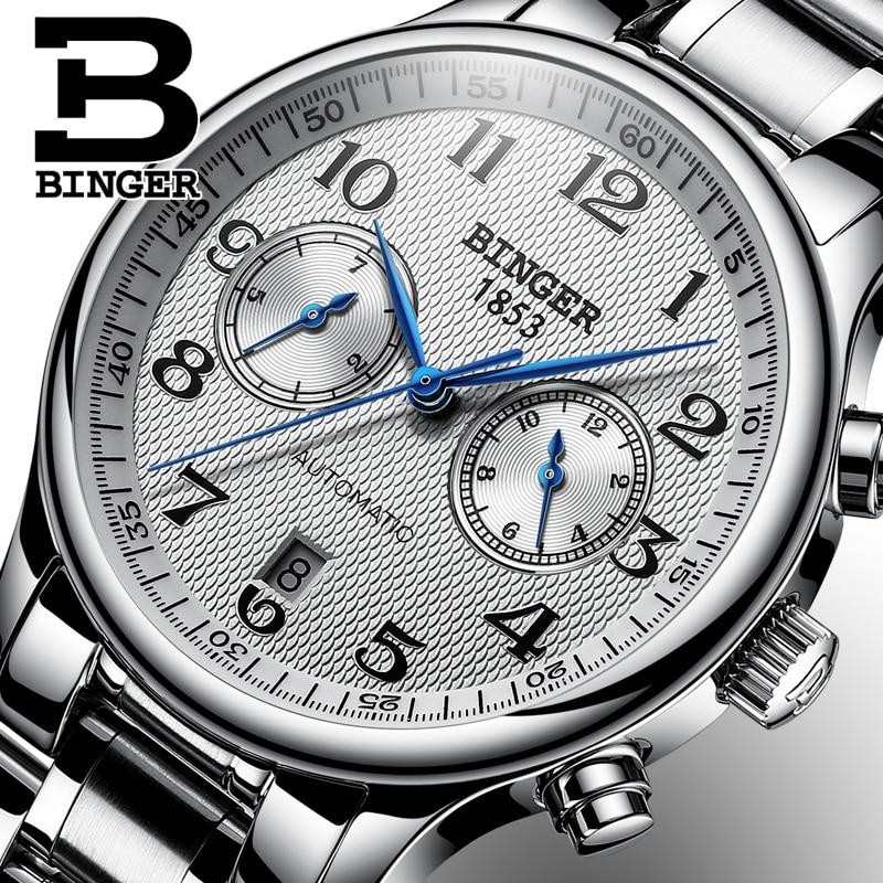 Switzerland Binger Luxury Brand Men s Watches Relogio Waterproof Watch Male Automatic Mechanical Men Watch Sapphire