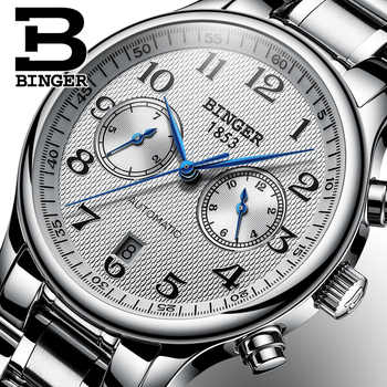 Switzerland Binger Luxury Brand Men's Watches Relogio Waterproof Watch Male Automatic Mechanical Men Watch Sapphire B-603-51 - DISCOUNT ITEM  49% OFF All Category