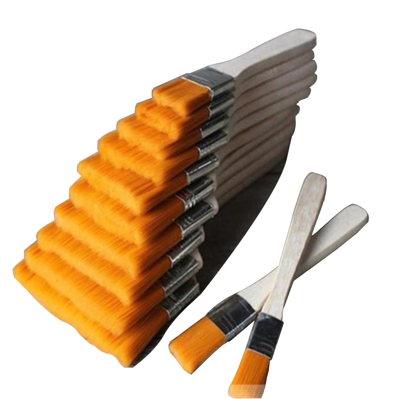 High quality multi-purpose10# wooden handle nylon brush line paint oil painting bottom brush glue dust cleaning tool brush
