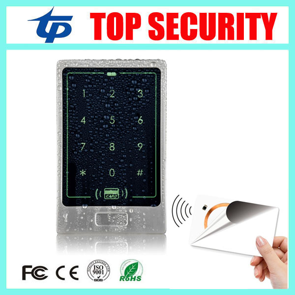 Smart MF card 13.56mhz IC RFID card access control system 8000 users touch screen surface waterproof access controller reader smart 13 56mhz mf ic card proximity card access control door opener rfid surface waterproof standalone access control system