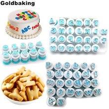 Molde do alfabeto de 62 peças, ferramenta para decoração de bolo, cobertura, biscoitos, cortador, ferramenta de decoração