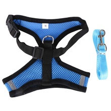 Breathable Dog Pet Harness and Leash Set Puppy Cat Vest Harness Collar For Chihuahua Pug Bulldog Cat arnes perro drop shipping
