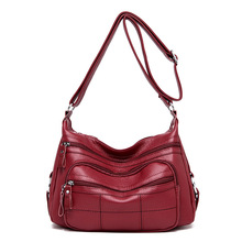 New Sheepskin Leather Handbags Women Bags Designer 2019 Ladies Stylish Tote Bag Crossbody Bags for Women Solid Color Sac C867 цены