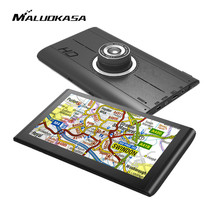 MALUOKASA 7inch Wifi Android GPS Navigation Car DVR Camera Recorder Navigator 8G Memory Multi-language Automobiles Car-detector