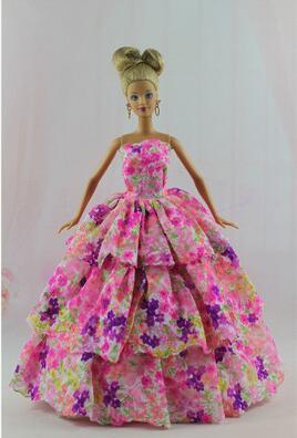 Genuine case for Barbie clothes Doll wedding dress Set Fantasy wardrobe gift box girl dress up clothes toys