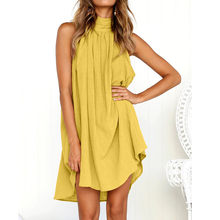 db910e5528 (Ship from US) Womens Holiday Irregular Dress Ladies Summer Beach  Sleeveless Party Dress vestidos verano 2018 New Arrival dresses for women