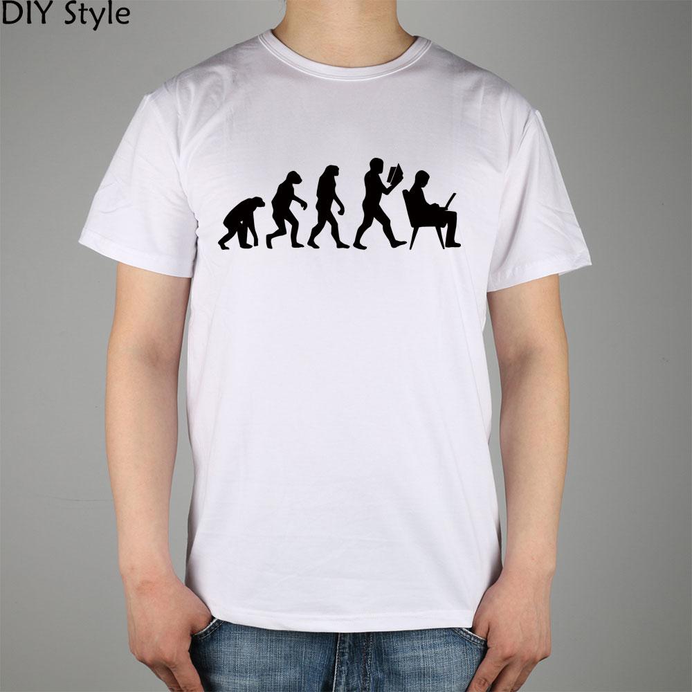 Evolution Des Wissens t-shirt Top Lycra Cotton Men T Shirt