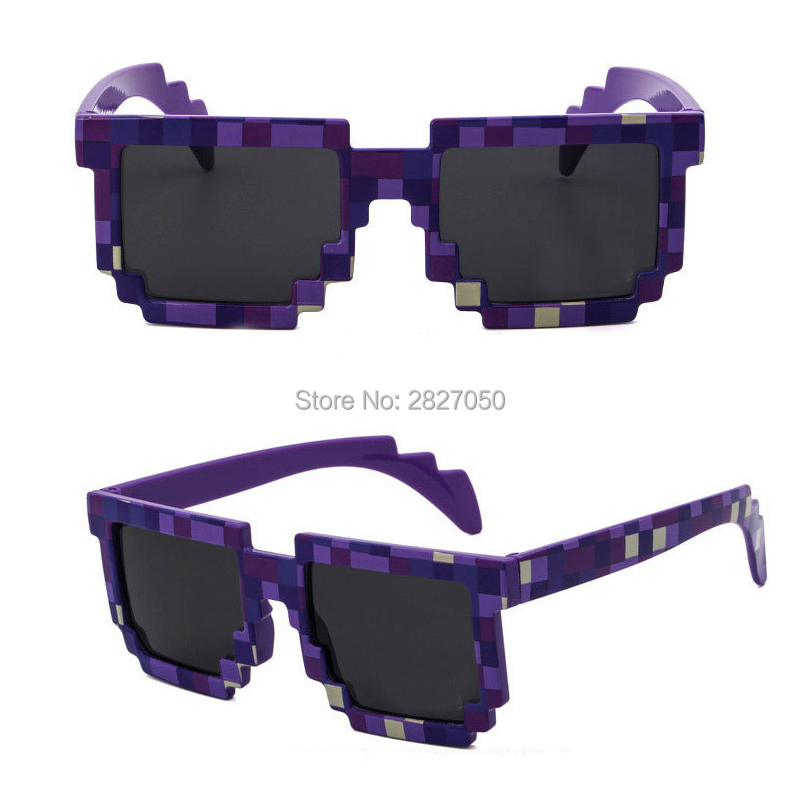 Fashion Sunglasses Kids Action <font><b>Game</b></font> Toys Minecrafter Square <font><b>Glasses</b></font> With EVA <font><b>Case</b></font> gifts toys for Men Women tourism