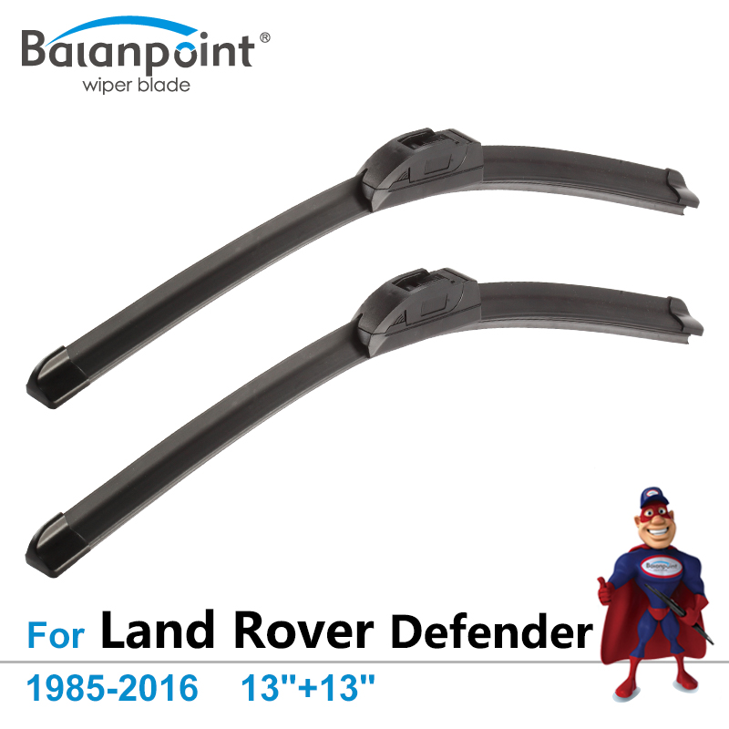 Car Wipers for Land Rover Defender 1985-2016 13+13, Pack of 2 Blades, Unique Frameless Wiper