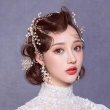 Свадебные украшения для волос ручной работы из бисера винограда